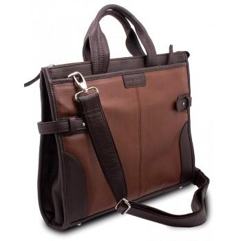 Кожаная сумка Hadley Sir Pine Brown
