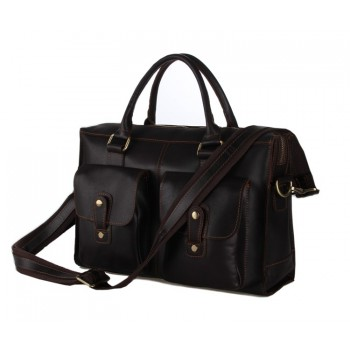 Винтажный кожаный портфель JMD 7096C dark coffee