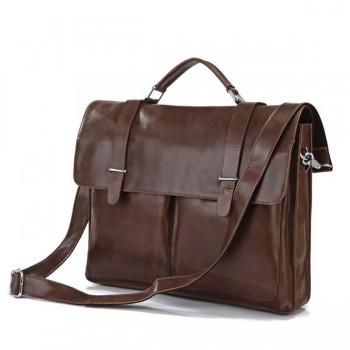 Кожаный портфель JMD 7100B