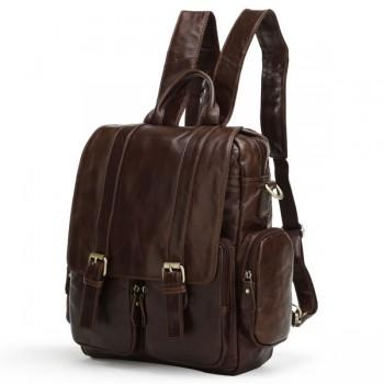 Кожаный рюкзак JMD 7123C dark coffee