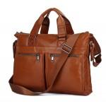 Рыжая кожаная сумка JMD 7152B