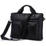 Кожаный портфель JMD 7177A black