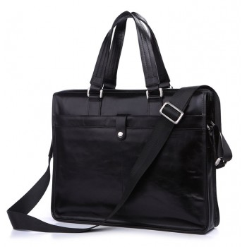 Кожаный портфель JMD 7181A black
