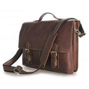 Кожаный портфель JMD 7090B brown