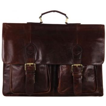 Кожаный портфель JMD 7105-2C coffee