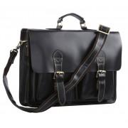 Кожаный портфель JMD 7105A black
