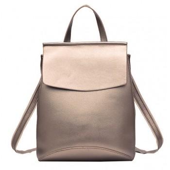 Женский кожаный рюкзак JMD 8504-1 gold