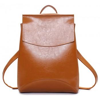 Женский кожаный рюкзак JMD 8504-1 honey