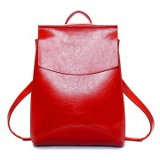 Женский кожаный рюкзак JMD 8504-1 red