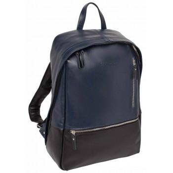 Кожаный рюкзак Lakestone Adams dark blue/black