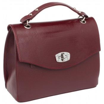 Женская кожаная сумка Lakestone Alison burgundy