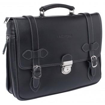 Кожаный портфель Lakestone Belmont black