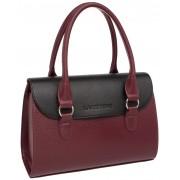 Женская кожаная сумка Lakestone Bloy burgundy/black