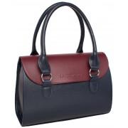Женская кожаная сумка Lakestone Bloy dark blue/burgundy