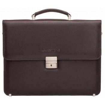 Кожаный портфель Lakestone Braydon brown