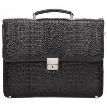 Кожаный портфель Lakestone Braydon caiman black