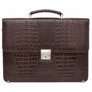 Кожаный портфель Lakestone Braydon caiman brown