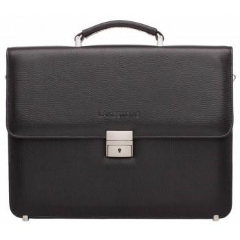 Кожаный портфель Lakestone Braydon relief black