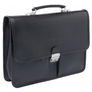 Кожаный портфель Lakestone Brentry black