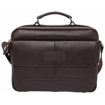 Деловая сумка через плечо Lakestone Button brown