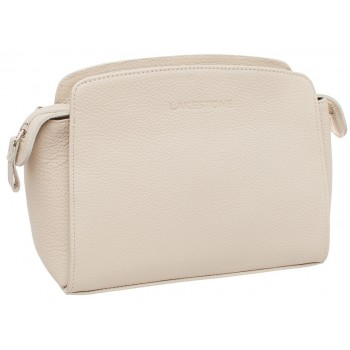 Женская кожаная сумка Lakestone Caledonia beige
