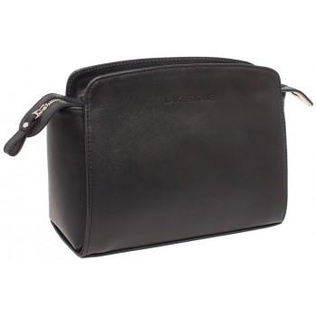 Женская кожаная сумка Lakestone Caledonia black saffiano