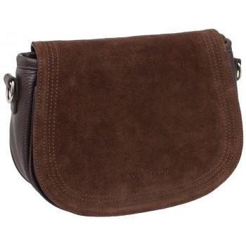 Женская кожаная сумка Lakestone Cameron brown