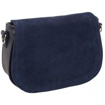 Женская кожаная сумка Lakestone Cameron dark blue