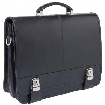 Кожаный портфель Lakestone Canford black