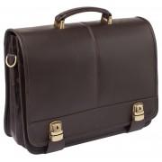 Кожаный портфель Lakestone Canford brown