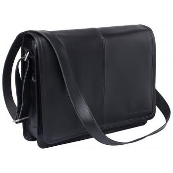 Деловая сумка через плечо Lakestone Chestnut black