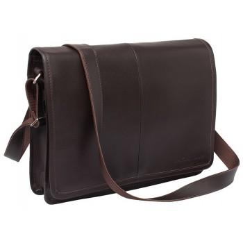 Деловая сумка через плечо Lakestone Chestnut brown