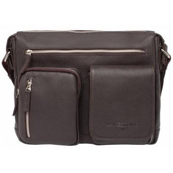 Деловая сумка через плечо Lakestone Clapton brown