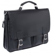 Кожаный портфель Lakestone Cooper black