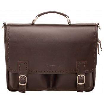 Кожаный портфель Lakestone Cooper brown
