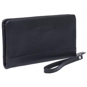 Кожаный клатч Lakestone Crispin black