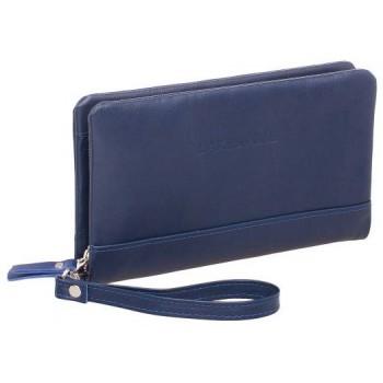 Кожаный клатч Lakestone Crispin dark blue