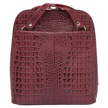 Женский рюкзак-трансформер Lakestone Eden caiman burgundy