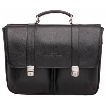 Кожаный портфель Lakestone Emerson black