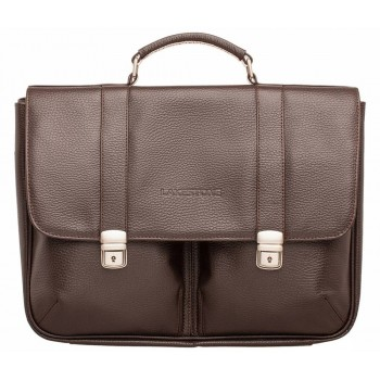 Кожаный портфель Lakestone Emerson brown