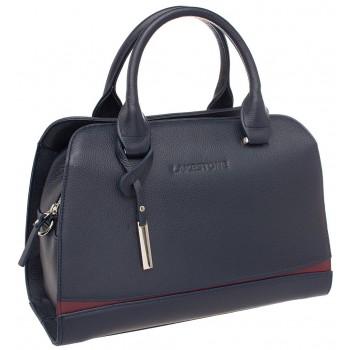 Женская кожаная сумка Lakestone Emra dark blue