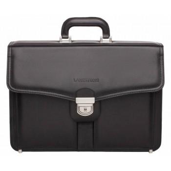 Кожаный портфель Lakestone Farington black