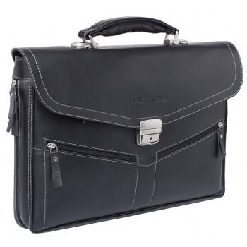 Кожаный портфель Lakestone Filton black