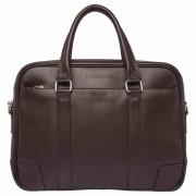 Деловая сумка Lakestone Foster brown - вмещает ноутбук 17