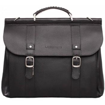 Кожаный портфель Lakestone Garston black