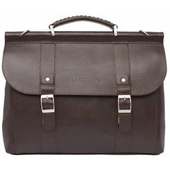 Кожаный портфель Lakestone Garston brown