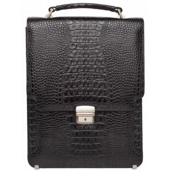 Вертикальный портфель Lakestone Gilbert caiman black