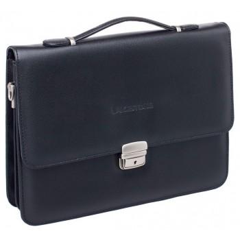 Кожаный портфель Lakestone Gordon black