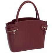Женская кожаная сумка Lakestone Hacket burgundy