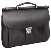 Кожаный портфель Lakestone Hammond black